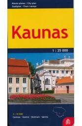 Kaunas. Miesto planas M 1:25 000