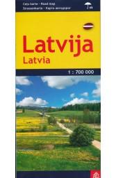 Latvija. Kelių žemėlapis. M 1:700 000 (l..