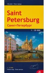 Sankt Peterburgo miesto planas 1 : 35 00..