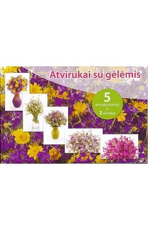 Atvirukai su gėlėmis (Violet.)
