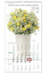 2014 m. kalend. Lietuvos laukų ir pievų gėlių puokštės