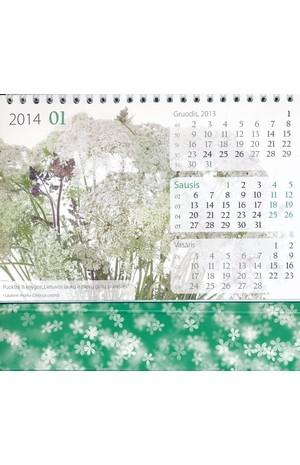 2014 metų stalinis gėlių kalendorius