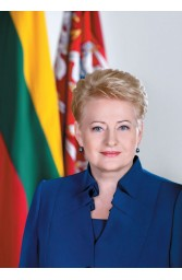 Prezidentės Dalios Grybauskaitė portretas. Plakatas