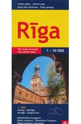 Ryga. Centro planas M 1:10 000