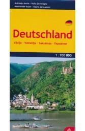 Vokietija. Kelių žemėlapis M 1:700 000